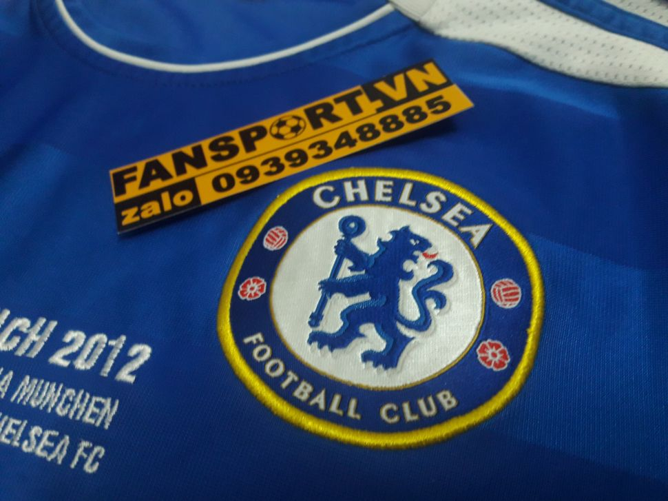Áo đấu Drogba #11 Chelsea Champion League Final 2012 home shirt