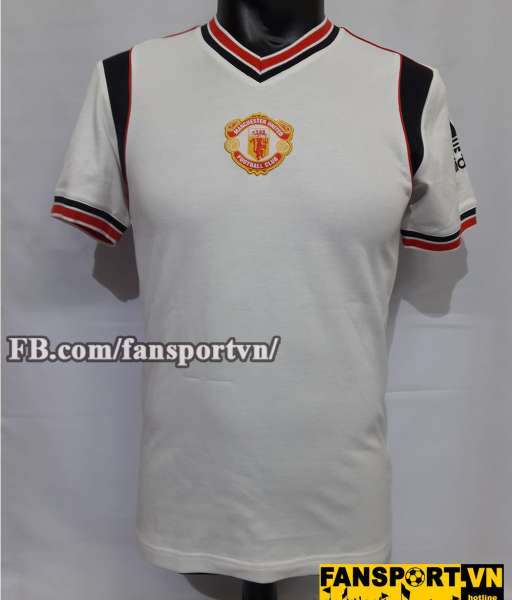 Áo đấu retro Manchester United 1984-1986 away shirt jersey white