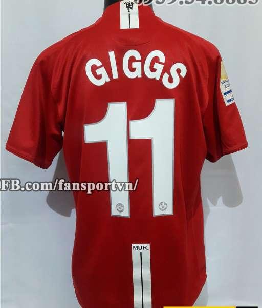 Áo Ryan Giggs #11 Manchester United FIFA Club World Cup 2008 shirt
