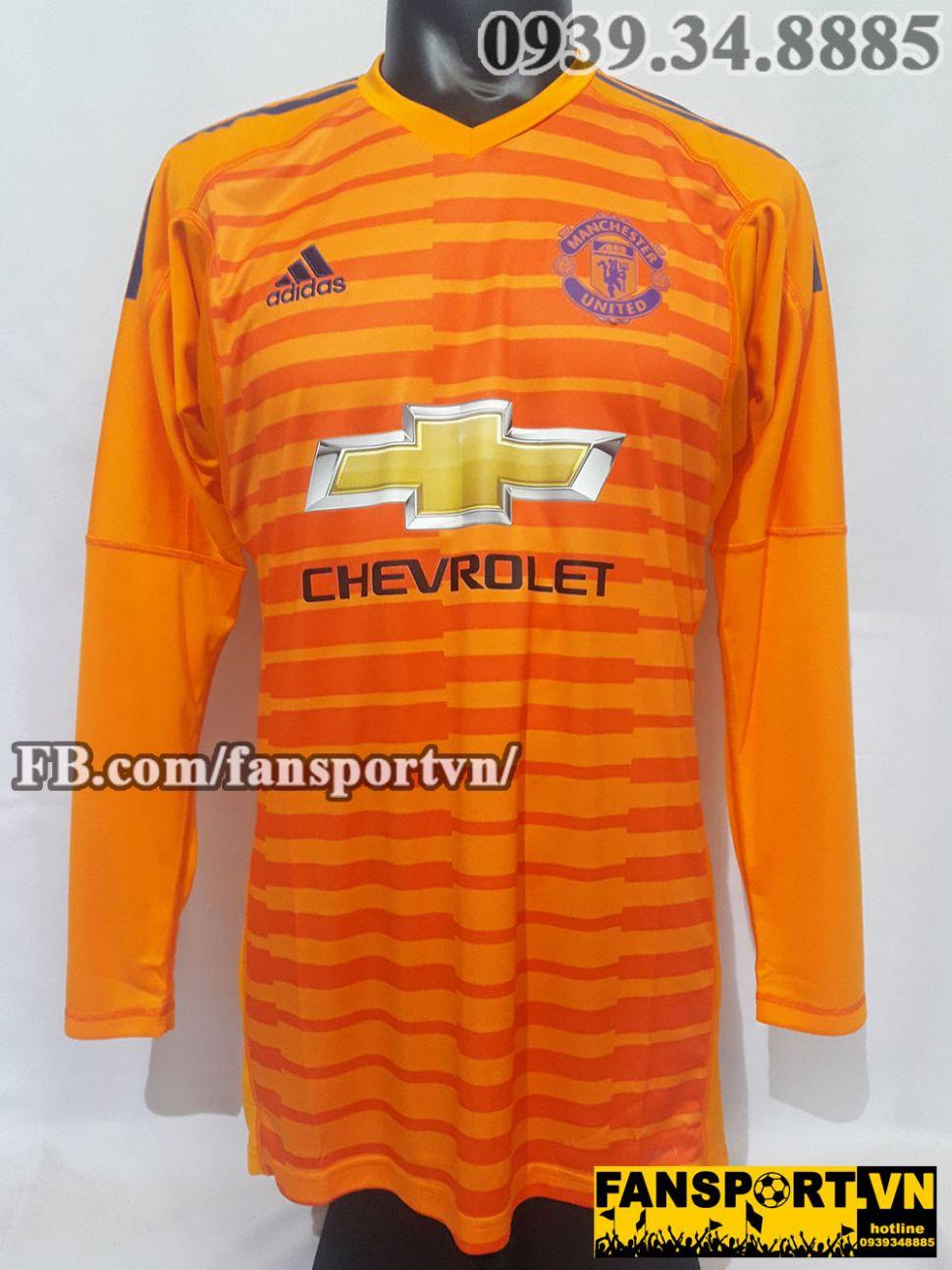 Áo thủ môn Manchester United 2018-2019 third goalkeeper orange