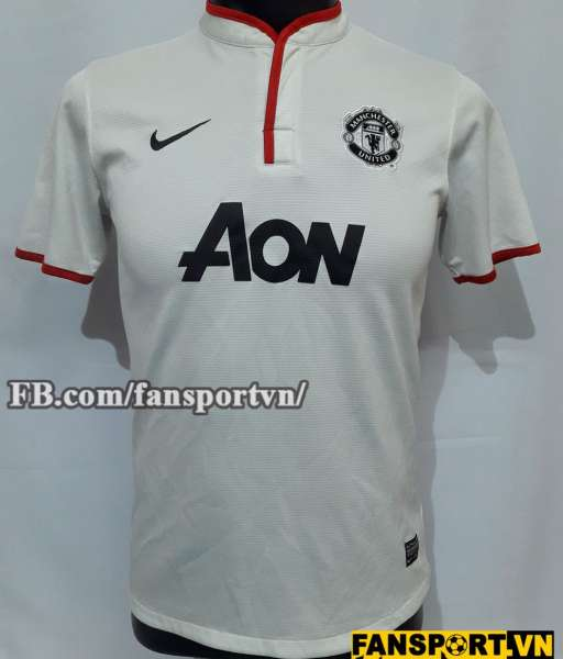 Áo đấu Manchester United 2012-2014 away third shirt jersey white