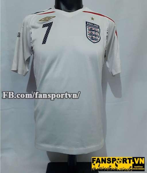 Áo đấu David Beckham #7 England 2007-2009 home shirt jersey