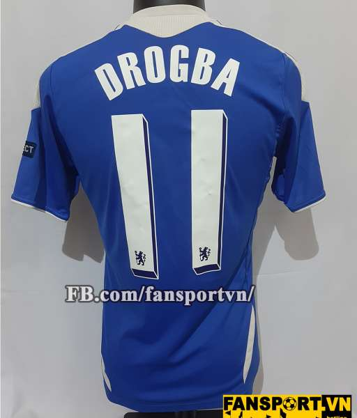Áo đấu Drogba #11 Chelsea Champion League Final 2012 home shirt