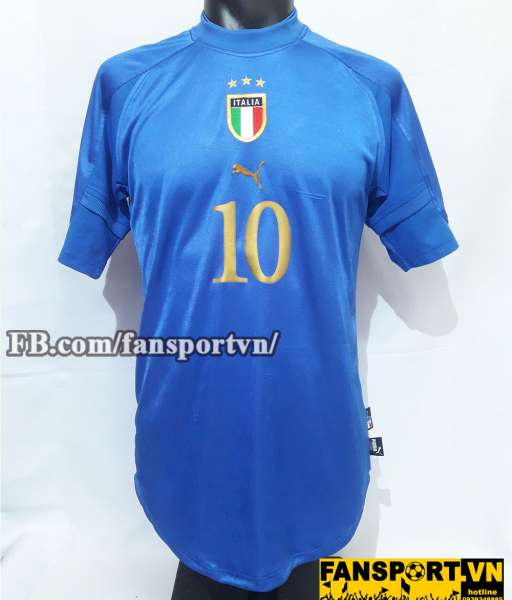Áo đấu Francesco Totti #10 Italy 2004-2006 home shirt jersey blue