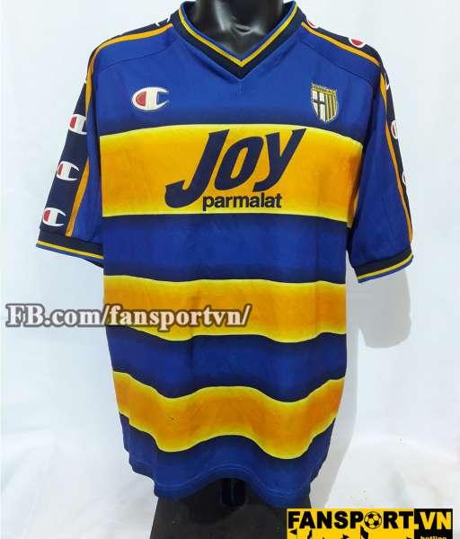 Áo đấu Hidetoshi Nakata Parma 2001-2002 home shirt jersey blue yellow