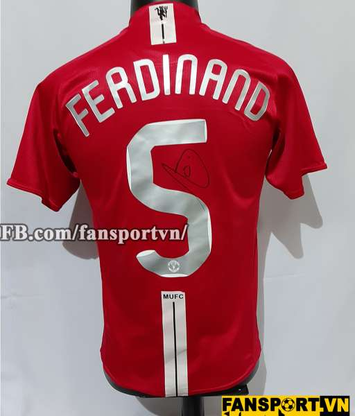 Áo chữ ký Ferdinand #5 Manchester United Champion League final 2008
