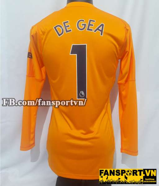 Áo De Gea #1 Manchester United 2018-2019 third goalkeeper orange