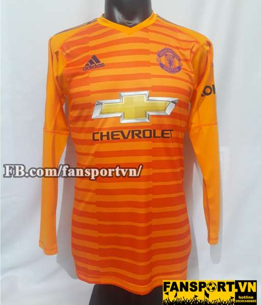 Áo De Gea #1 Manchester United 2018-2019 third goalkeeper orange