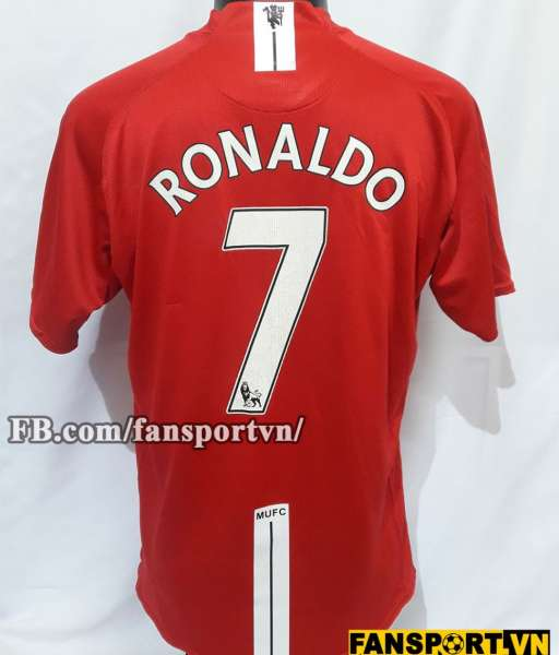 Áo Ronaldo #7 Manchester United 2007-2008-2009 home shirt jersey red