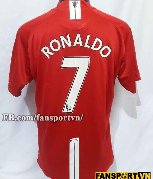 Áo Ronaldo #7 Manchester United 2007-2009 home shirt jersey red