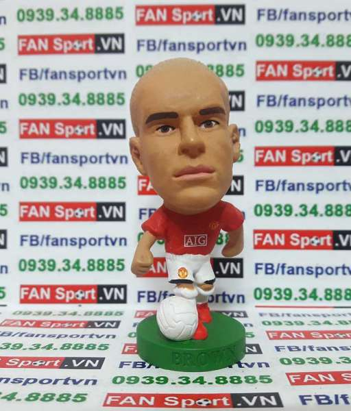 Tượng Wes Brown Manchester United 2007-2009 home - corinthian PRO1795