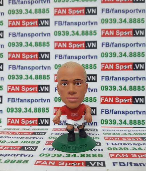 Tượng Wes Brown Manchester United 2007-2009 home - microstars
