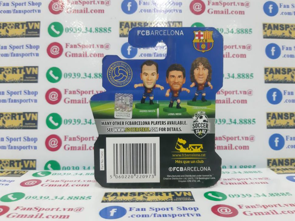 Tượng Gerard Pique #3 Barcelona 2012-2013 home soccerstarz figure