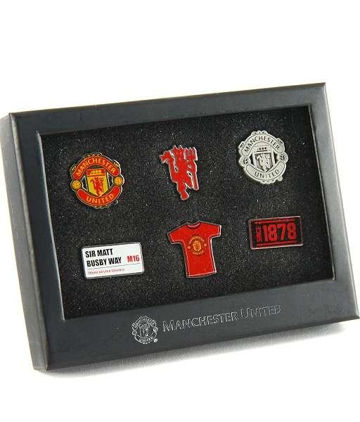 Bộ huy hiệu Manchester United 6 piece box set