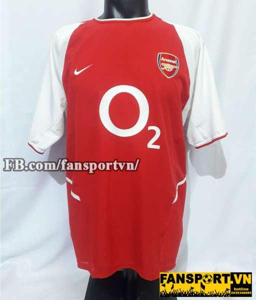 Áo đấu Dennis Bergkamp #10 Arsenal 2002-2004 home shirt jersey red