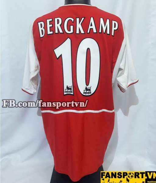 Áo đấu Dennis Bergkamp #10 Arsenal 2002-2004 home shirt jersey red