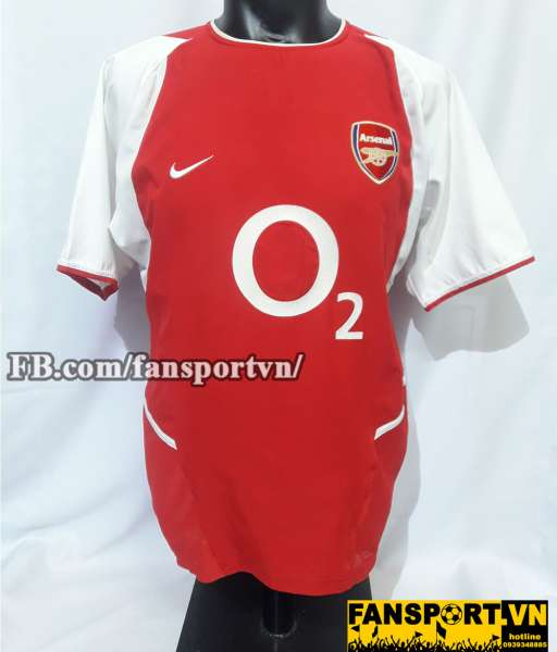 Áo đấu Thierry Henry #14 Arsenal 2002-2004 home shirt jersey red