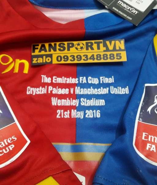 Áo đấu Crystal Palace Fa Cup Final 2016 home shirt jersey blue red