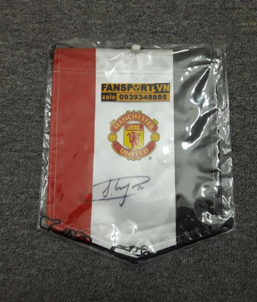 Cờ Manchester United chữ ký Jesse Lingard #35 pennant singed