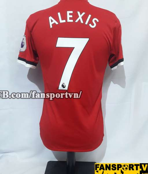 Áo đấu Alexis #7 Manchester United 2017-2018 home shirt jersey red