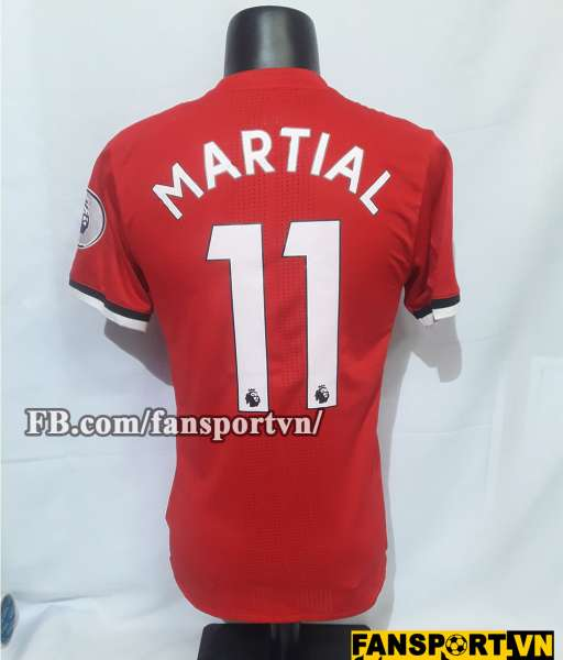 Áo đấu Martial #11 Manchester United 2017-2018 home shirt jersey red