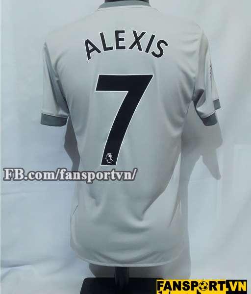 Áo đấu Alexis #7 Manchester United 2017-2018 home shirt jersey grey