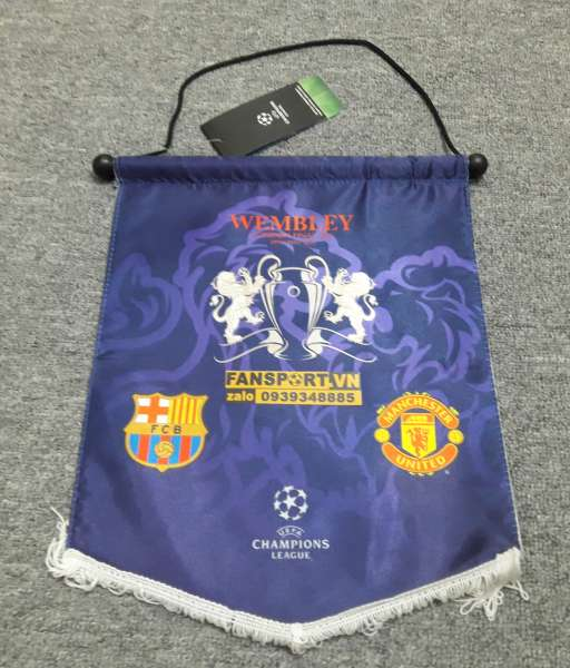 Cờ Champion league Final 2011 Manchester United Barcelona pennant