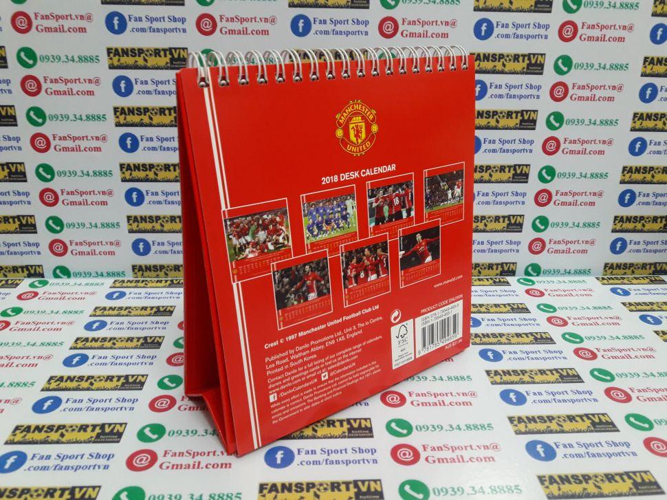 Lịch Manchester United 2018 calendar desk