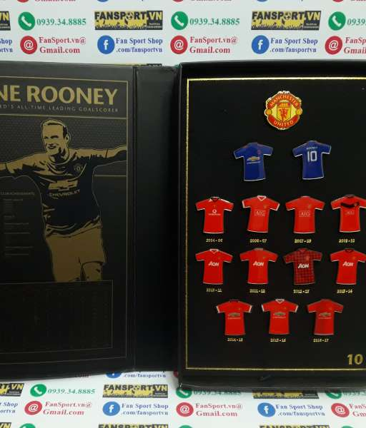 Badge Wayne Rooney All Time Leading Goalscorer 250 goals ManUtd box