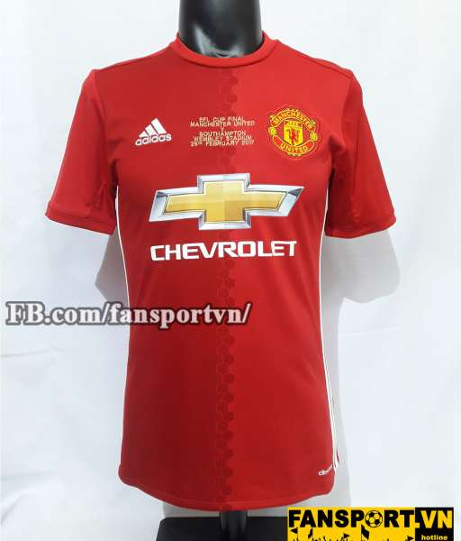 Áo đấu Manchester United Winners 17 League Cup 2017 shirt home red