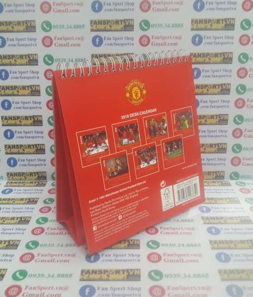 Lịch Manchester United 2019 Treble Winners 1999 calendar desk