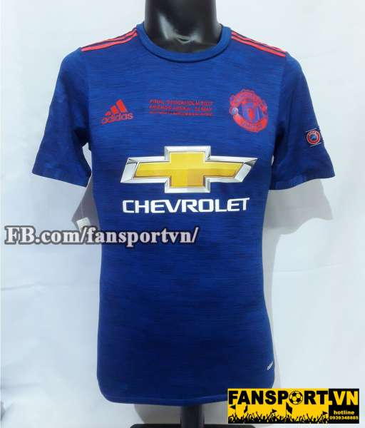 Áo đấu Pogba #6 Manchester United Europa League Final 2017 home shirt
