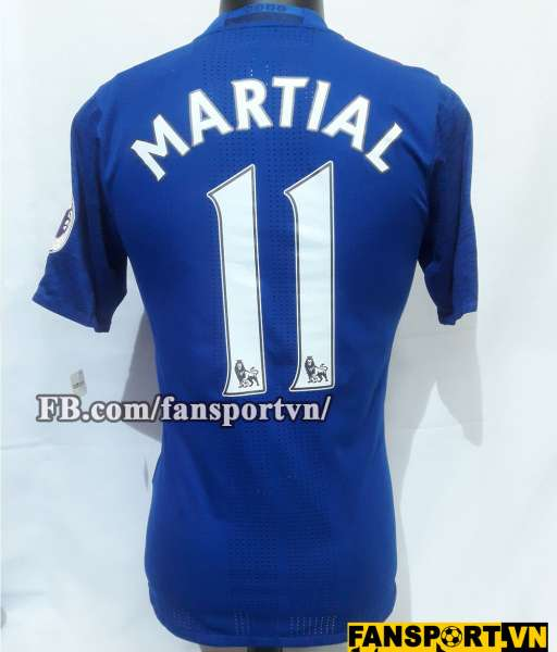 Áo đấu Martial #11 Manchester United 2016-2017 away shirt jersey blue