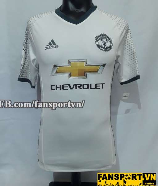 Áo đấu Martial #11 Manchester United 2016-2017 third white shirt