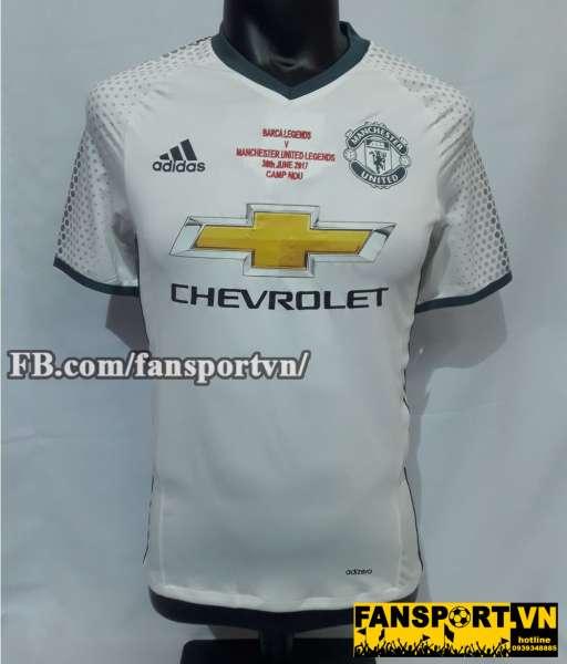 Áo đấu Park Ji Sung #13 Manchester United 2016-2017 third white shirt