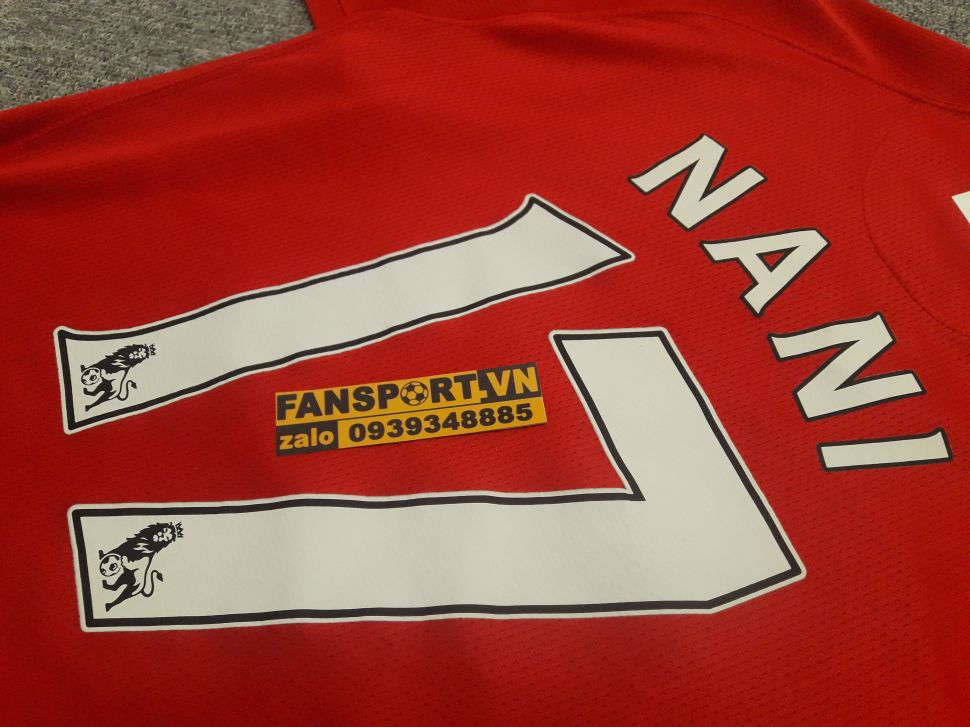 Áo Nani #17 Manchester Unied Community Shield 2008 shirt jersey red