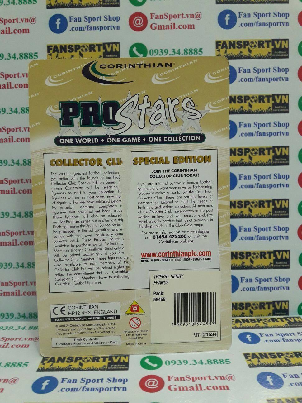 Tượng Thierry Henry France 2000-2002 away corinthian PRO957 blister