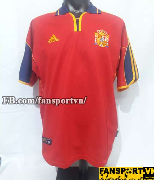 Áo đấu Spain 1999-2001 home shirt jersey red