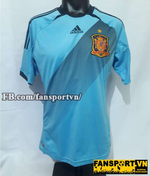 Áo đấu Spain 2012-2013 away shirt jersey blue