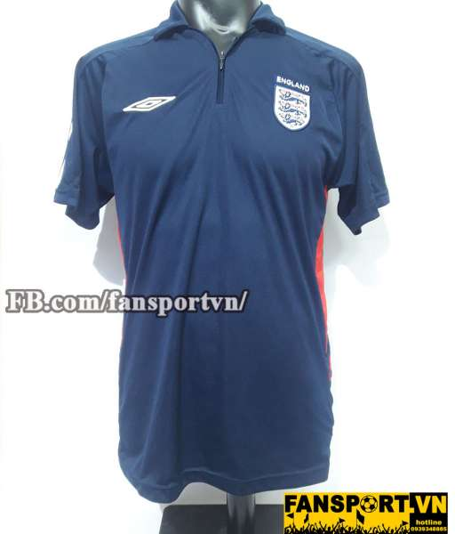 Áo polo England blue black shirt jersey