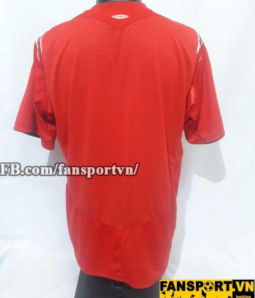 Áo đấu England 2004-2006 away shirt jersey red