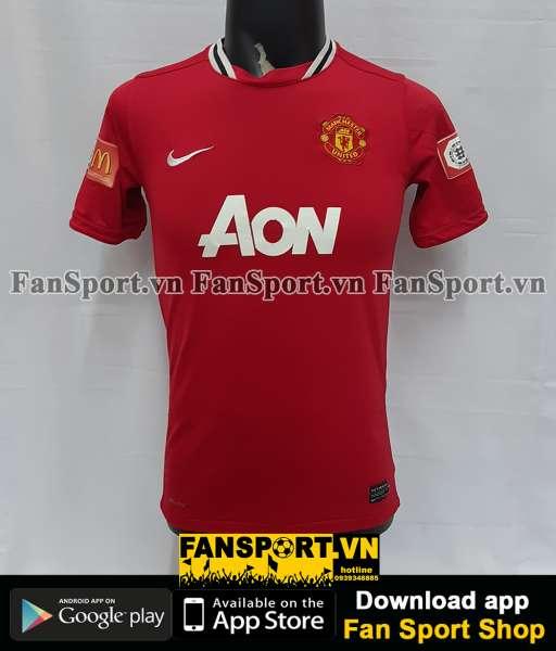 Áo đấu Manchester United Community Shield 2011 home shirt jersey red
