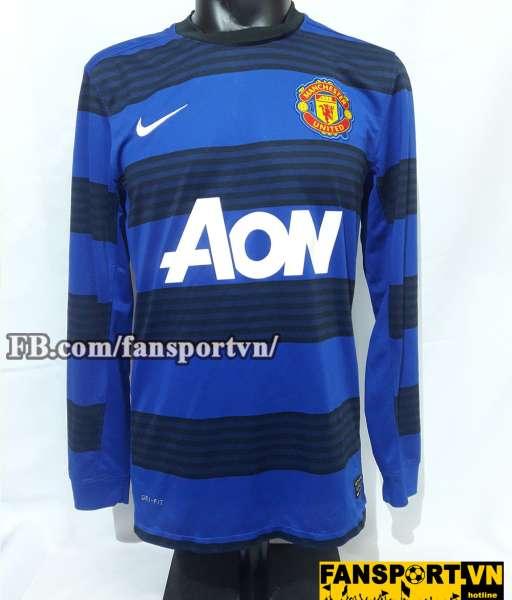 Áo đấu Tom Cleverley #23 Manchester United 2011-2013 away shirt blue