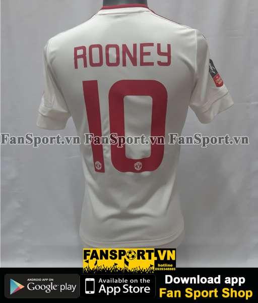 Áo đấu Rooney #10 Manchester United FA Cup 2016 away shirt jersey