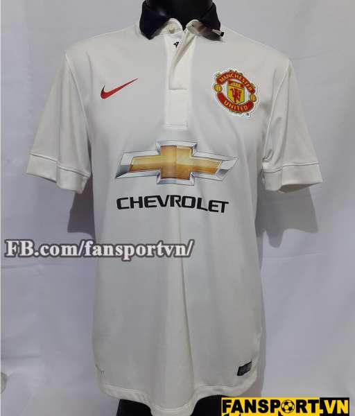 Áo đấu Di Maria #7 Manchester United 2014-2015 away shirt jersey white