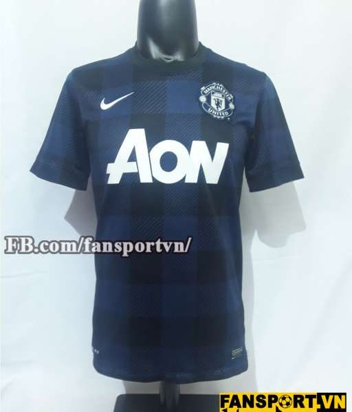 Áo đấu Giggs #11 Manchester United 2013-2014 away shirt jersey blue