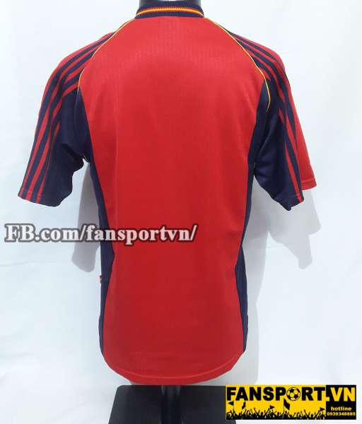 Áo đấu Spain 1998-1999 home shirt jersey red