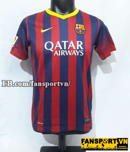 Áo đấu Neymar JR #11 Barcelona 2013-2014 home shirt jersey red blue