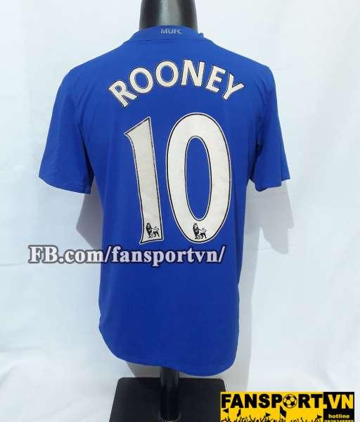 Áo đấu Rooney #10 Manchester United 2008-2009 third shirt jersey blue