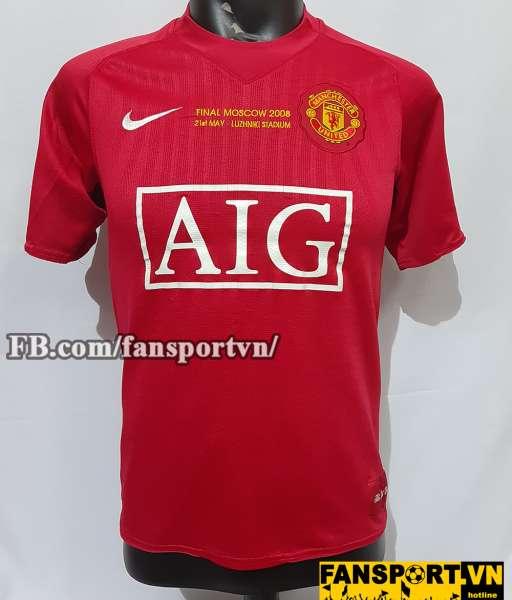 Áo đấu Ronaldo #7 Manchester United Champion League Final 2008 shirt